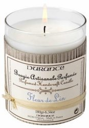 Durance Handcraft Candle Linen Flower
