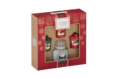 Yankee Candle Small Jar & 3 Votive Candle Gift Set