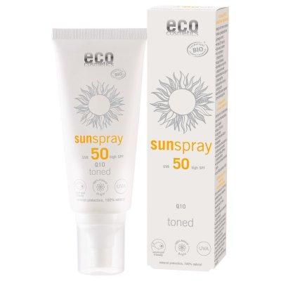 Ekologisk solspray Toned Q10 SPF 50 100ml - Eco Cosmetics