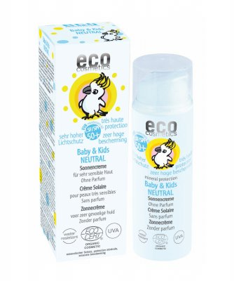 Ekologisk barn solkräm 50+ NEUTRAL 50ml - Eco Cosmetics
