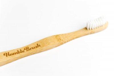 Ekologisk tandborste - Humble Brush barn (Vit)