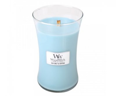 WoodWick Sea Salt & Cotton – Large