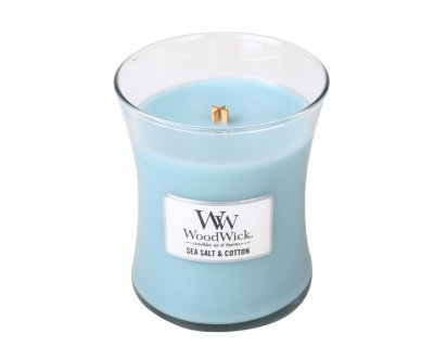 WoodWick Sea Salt & Cotton – Medium
